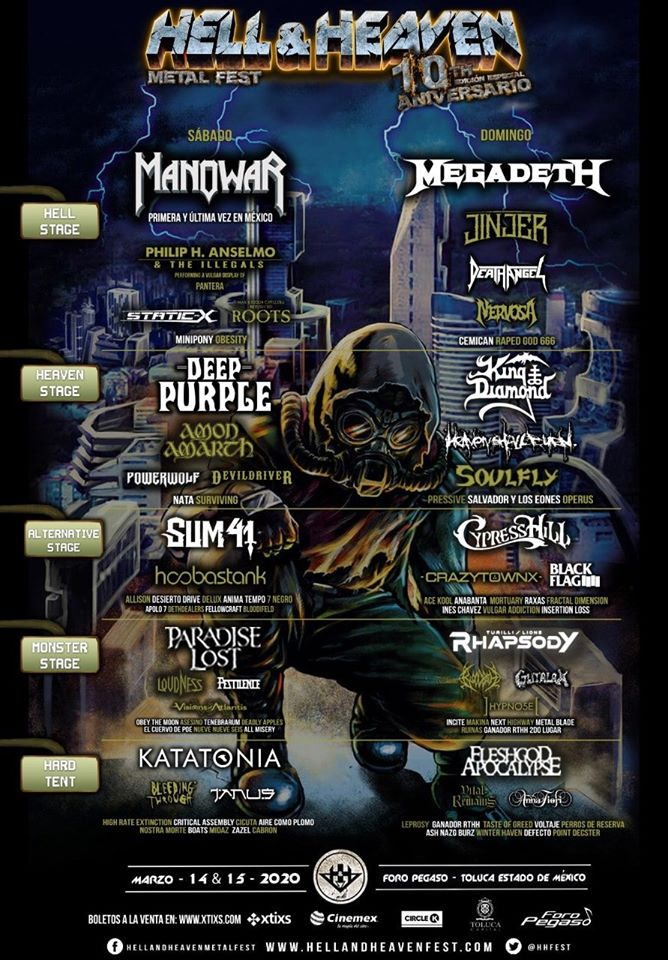 Hell and Heaven metal fest 2020 listo para el 14 y 15 de marzo
