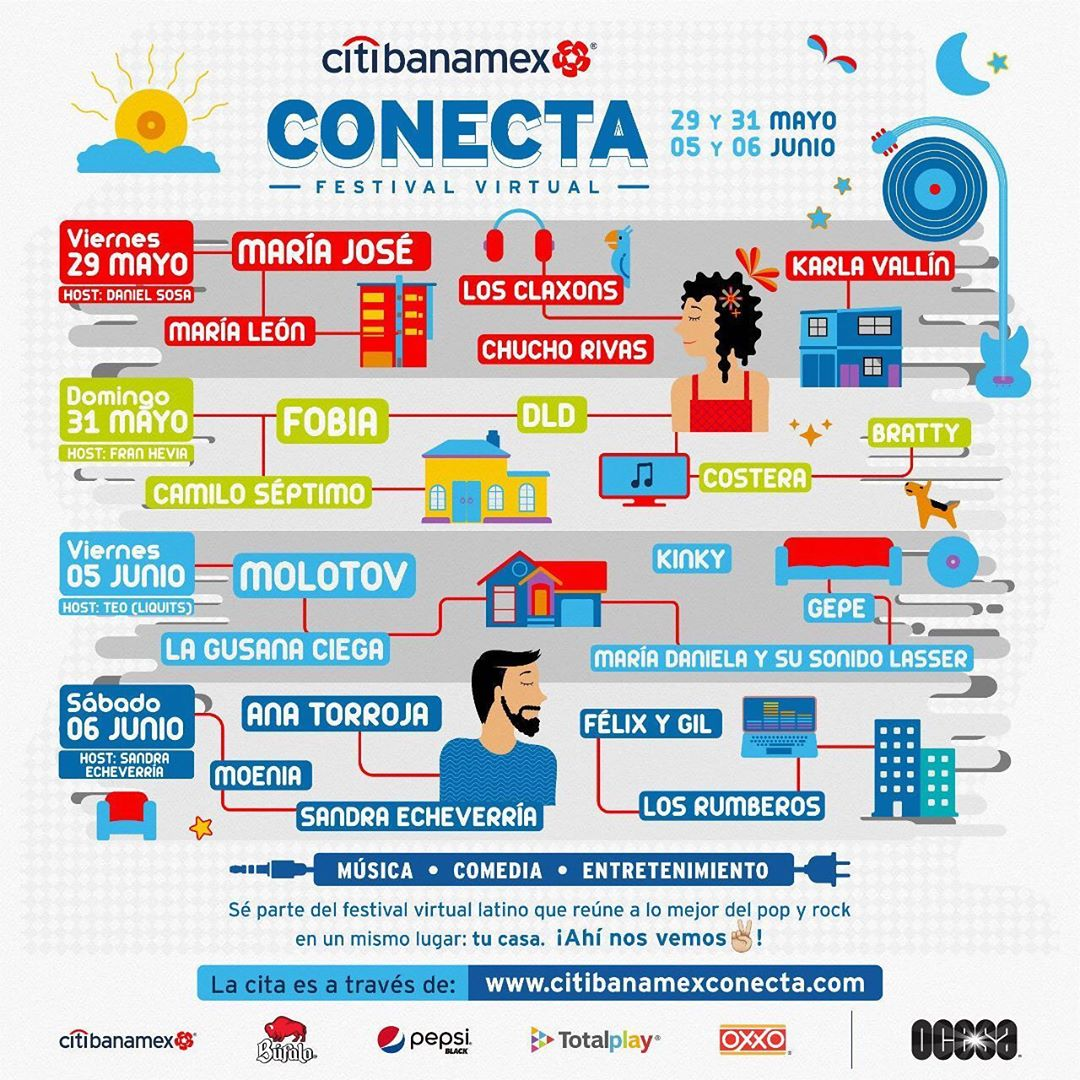 Citibanamex Conecta, festival virtual de Rock y Pop Latino