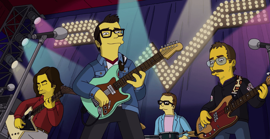 Weezer estrena canción en Los Simpson